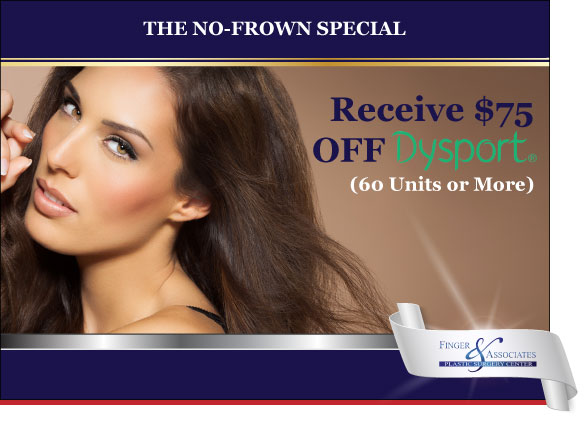 Finger and Associates Special Save $75 on Dysport