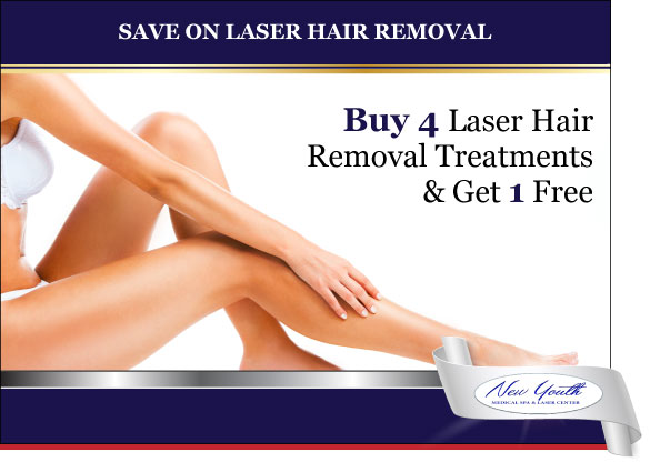New Youth Medical Spa Special Save on Laser Hair Removal