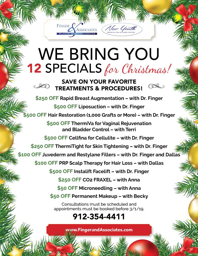 Finger and Associates Brings You 12 Specials for Christmas