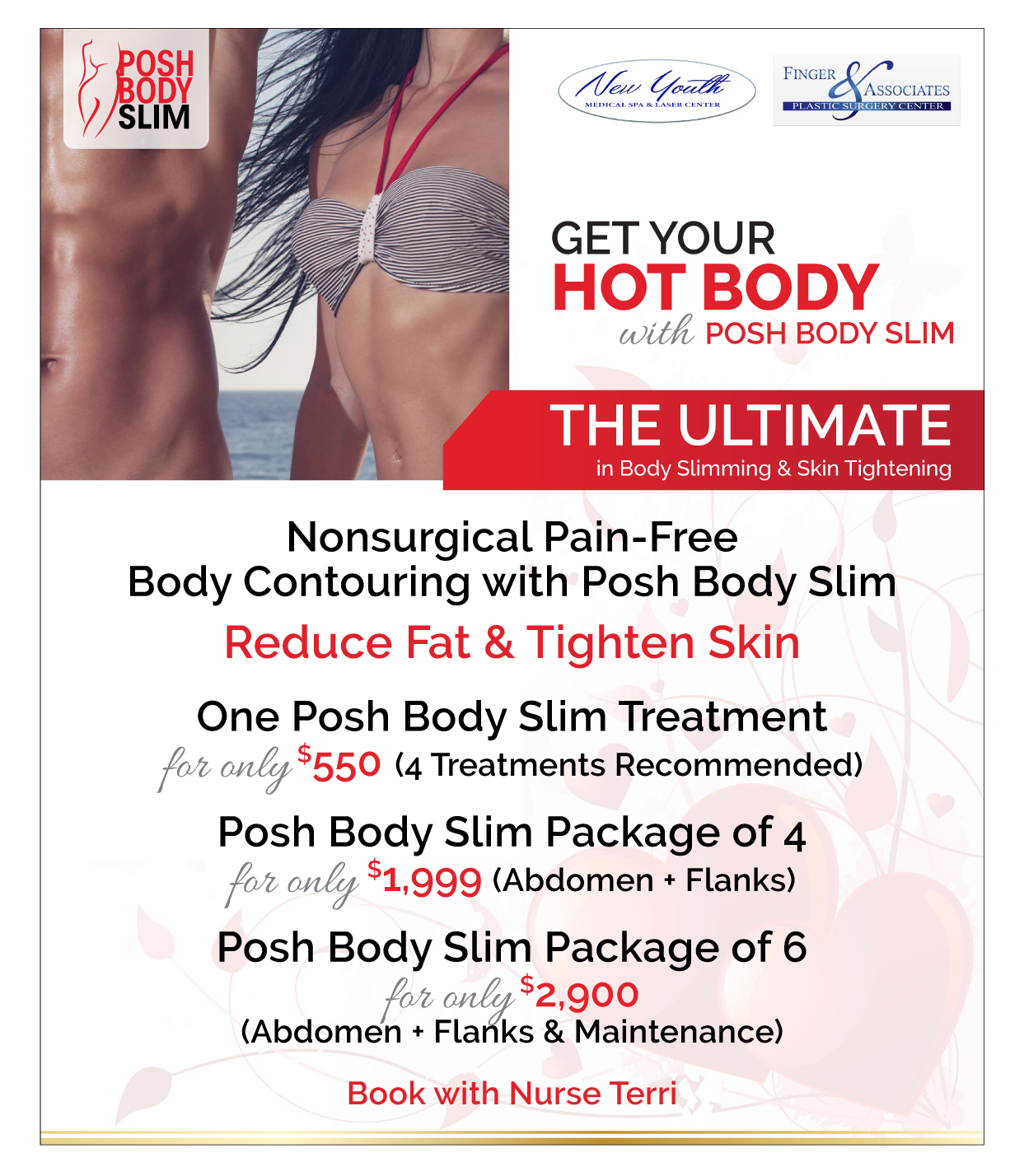 Finger and Associates and New Youth Medical Spa Specials on Posh Body Slim