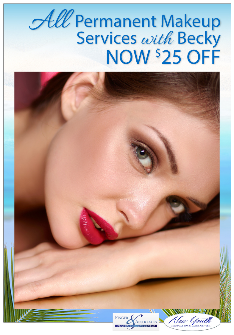 All Permanent Makeup Services with Becky NOW $25 OFF