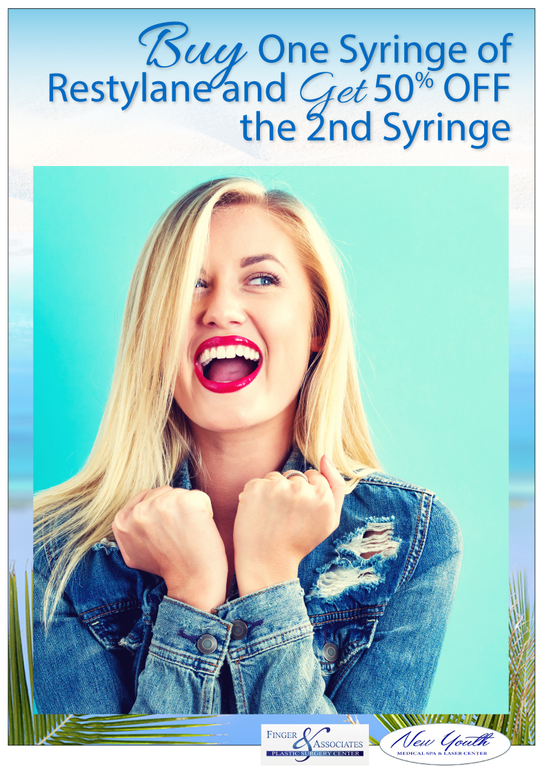 Buy One Syringe of Restylane and Get 50% OFF the 2nd Syringe