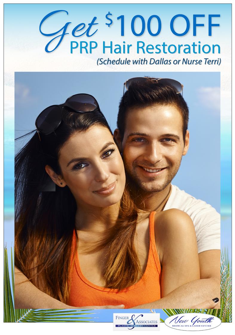 GET $100 OFF PRP Hair Restoration (Schedule with Dallas or Nurse Terri)