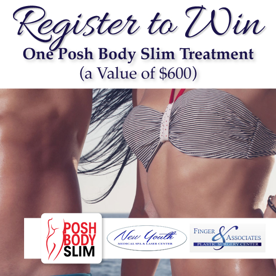 Register To Win One Posh Body Slim Treatment for nonsurgical body sculpting and skin tightening