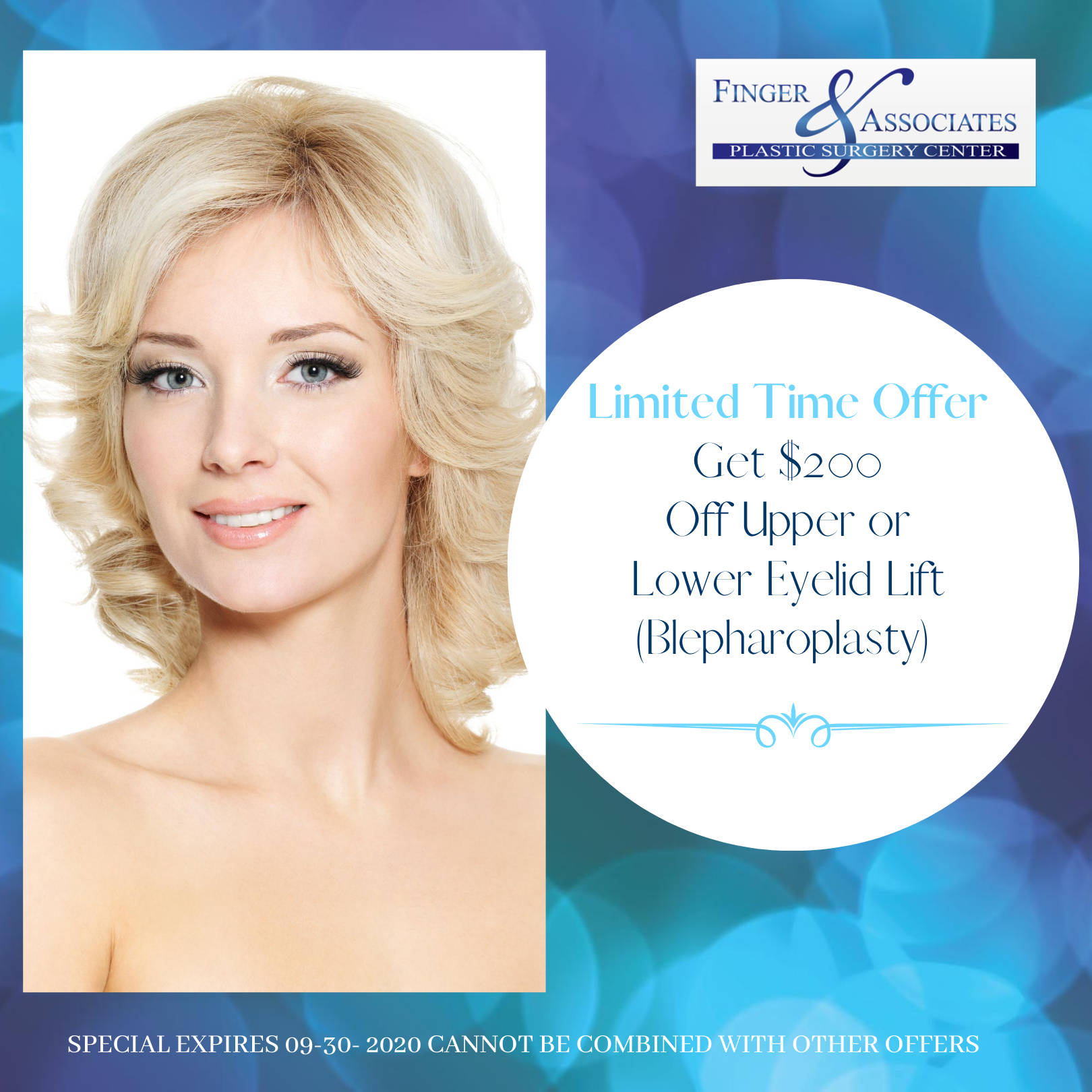 Eyelid Lift by Dr. Finger is now $200 Off