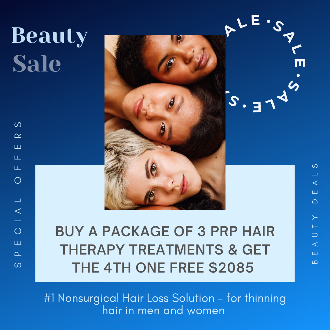 PRP Hair Restoration New Youth Medial Spa New Year Beauty Offers