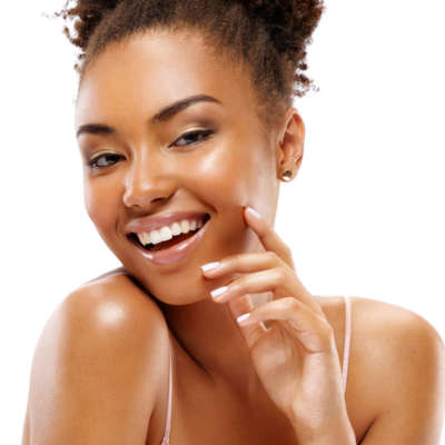 BEAUTIFUL FACE OF AFRICAN AMERICAN WOMAN - FACIALS AND BEYOND